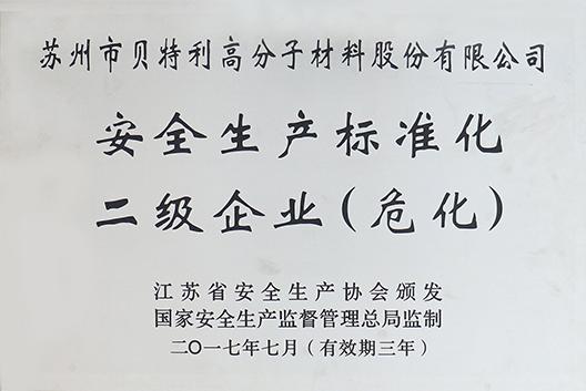 安全生产标准化二级企业(危化)